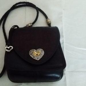 Vintage Brighton cross body black leather purse